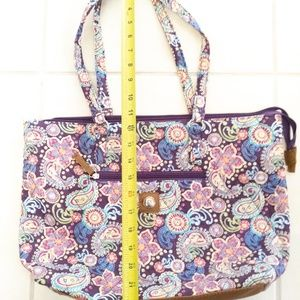 Stone Mountain Quilted Handbag Purple Paisley